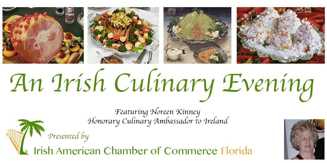 Irish Culinary Event Dinner.